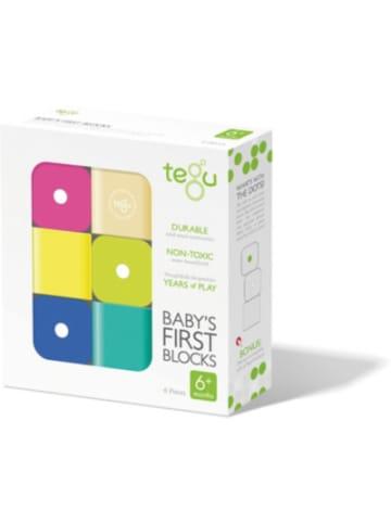 Tegu Baby Magnet-Holz-Bauklötze, 6 Teile