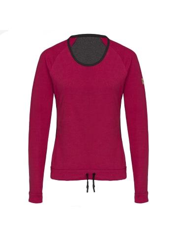 TAO Langarm Freizeitshirt aus Bio-Baumwolle in tango