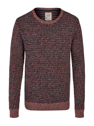 Eagle Denim Strickpullover in rot blau grau