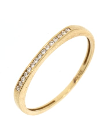 """Luxxos Ring """"mit 15 Zirkonia"""" in gold und weiß"""