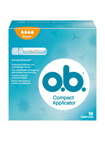 "O.b. Tampons ""Compact Applicator Super"" ‒ 16 Stück"