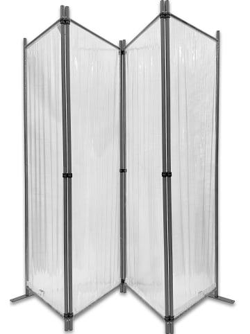 GRASEKAMP Qualität seit 1972 Paravent PVC 4tlg. in transparent