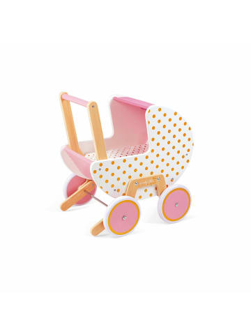 JANOD Puppenwagen Candy Chic in weiß, pink