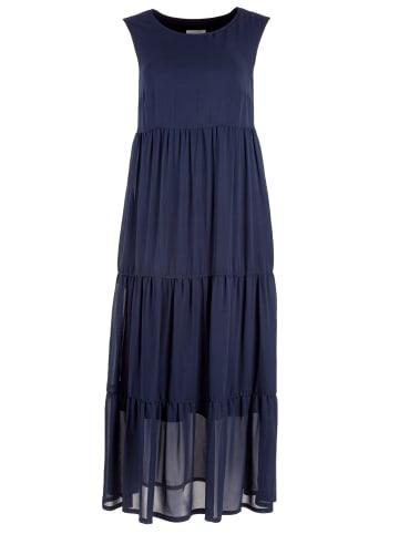 HELMIDGE A-Linien-Kleid Maxikleid in dunkel blau