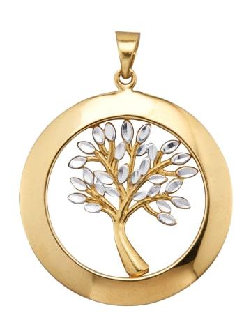 Diemer Gold Lebensbaum-Anhänger in Gelbgoldfarben