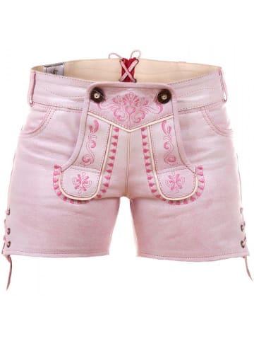 Edelnice Ledershorts in pink