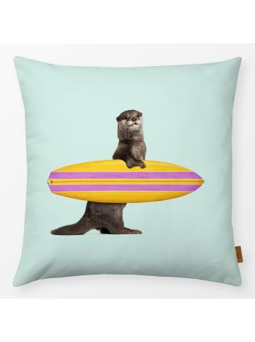 "Textilwerk.com Kissen ""Surfing Otter"" in Bunt"