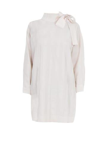 GESSICA Blusenkleid Organic Striped-satin dress in natur