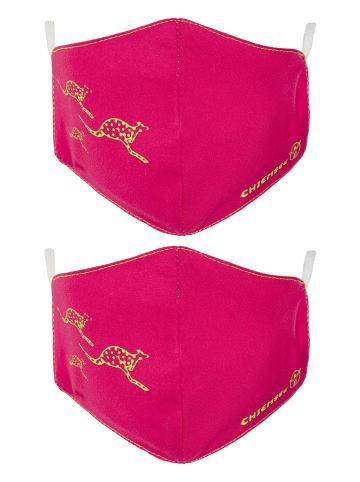 Chiemsee Mund-Nasen-Maske in Virtual Pink