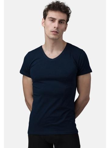 Burnell & Son T-Shirt - Unterhemd - V-Ausschnitt 4er Pack - Basic in Marine