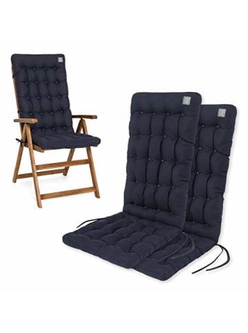 "Have a Seat 2er-Set Polsterauflage ""Hochlehner"" in Royal-Blau"
