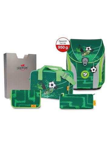 DerDieDas ErgoFlex Max Schulranzen-Set 5tlg. in green goal