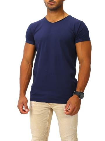 Joe Franks Joe Franks Joe Franks Herren Basic T-Shirts V-Neck HIGH in navy