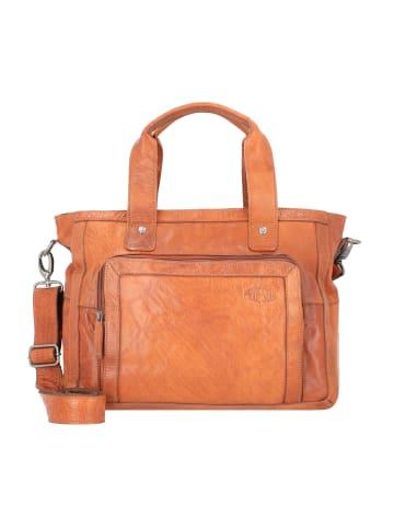 Pride and Soul Heather Heartbreaker Handtasche Leder 38 cm Laptopfach in cognac