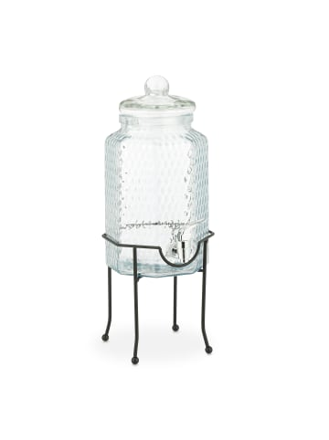 Relaxdays 6-tlg. Getränkespender Set in Transparent