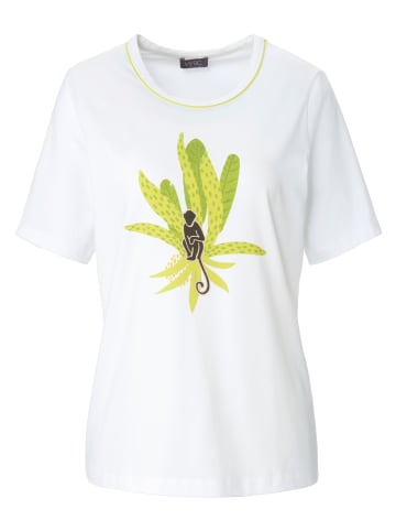 MYBC Shirt Rundhals-Shirt in weiß/limette
