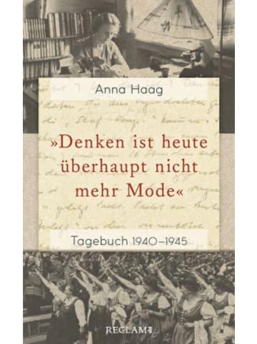 Reclam Verlag »Denken ist heute überhaupt nicht mehr Mode«