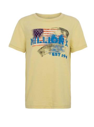 Million X Kids Jungen T-Shirt AMERICAN in light yellow