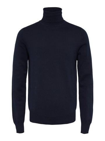 Bertoni Rollkragenpullover Henrik Slim Roll Neck Knit in blaues Kleid