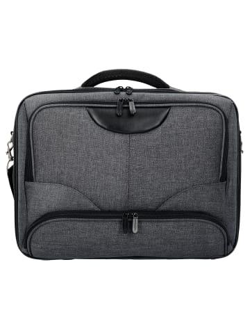 Dermata Basic Plus Flugumhänger 43 cm Laptopfach in grau schwarz