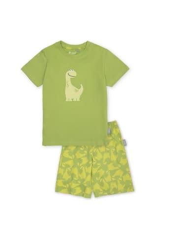"""Sigikid Pyjama """"Dino"""" in Grün"""