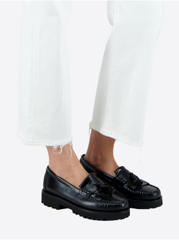 G.H. Bass & Co. Loafer Weejuns 90s Esther Kiltie in Black Leather