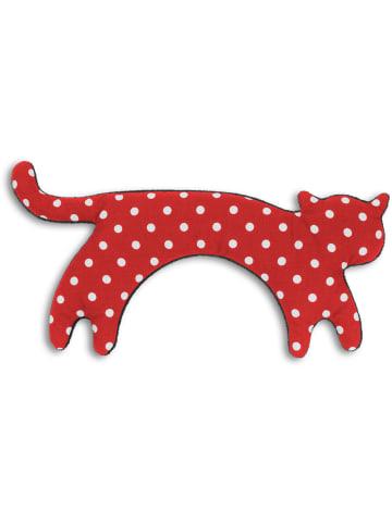 """Leschi Wärmekissen """"Katze Minina"""" stehend in Polka dot rot - (L) 39 x (B) 17 cm"""
