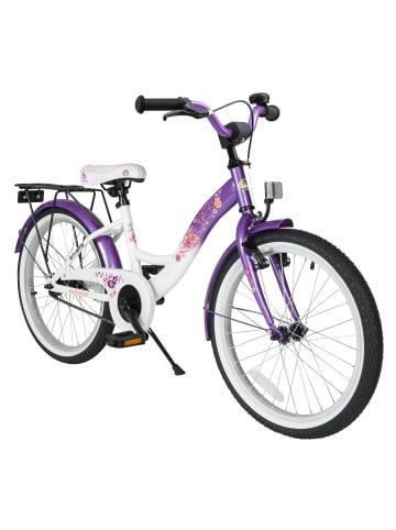"""BIKESTAR Kinder Fahrrad """"Classic"""" in Lila Weiß - 20 Zoll"""