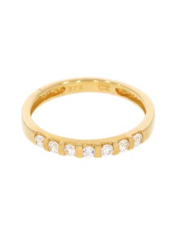 """Luxxos Ring """"mit 7 Zirkonia"""" in gold und weiß"""