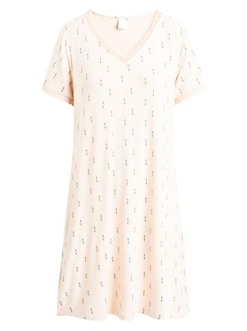 CCDK  Mittellanges Nachtkleid mit kurzen Ärmeln Jacqueline S/S in pink tint AOP
