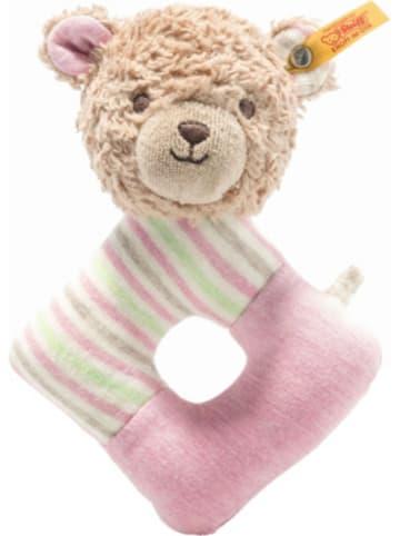 Steiff Greifring mit Rassel - Rosy Teddybär