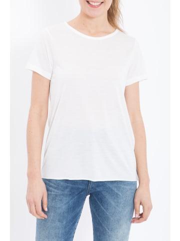 Queen Kerosin Queen Kerosin QUEEN KEROSIN Basic T-Shirt aus Viskose-Mix in offwhite