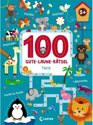 Loewe Verlag 100 Gute-Laune-Rätsel - Tiere