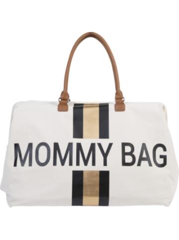Childhome Wickeltasche Mommy Bag, Canvas, Streifen gold/schwarz
