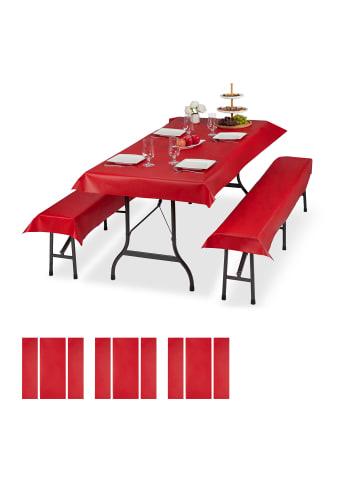Relaxdays 12x Bierzeltgarnitur Auflage in Rot