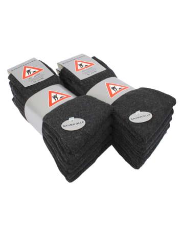 Cotton Prime® Baumwoll Socken 10 Paar Berufssocken in Anthrazit