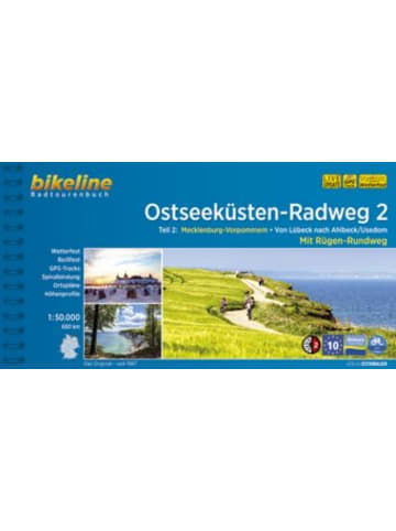 Esterbauer Ostseeküsten-Radweg, 2 Mecklenburg-Vorpommern. Von Lübeck nach Ahlbeck /Usedom. Mit Rügen-Rundweg. 680 km, wetterfest/reißfest, GPS-Tracks Download, LiveUpdate
