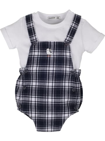 Mamino Kindermode Baby Junge Set 2 tlg. in weiss
