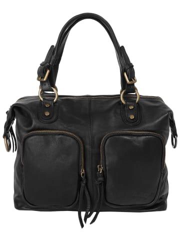 Forty degrees Handtasche in schwarz