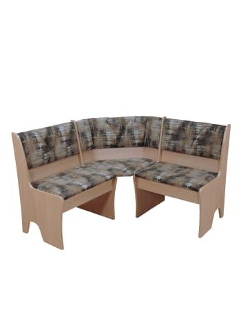 Möbel-direkt Eckbank 124x124 cm Dunja in buche natur - mocca