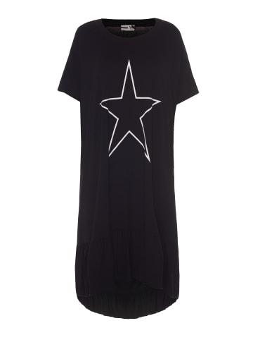 Studio halblanges T-Shirt-Kleid Doris in schwarz