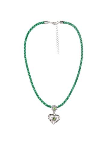 Schlick Accessoires Kordelkette mit Herzanhänger in Grün