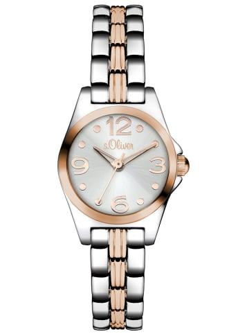 S.Oliver Time Armbanduhr in rosé-silber