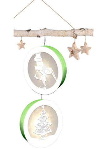 "URSUS 2er-Set Light Boxes ""Gnome & Tree"", mit LED, Ø11cm"