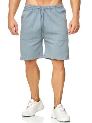 Max Men Shorts Bermuda Pants Kurze Sommer Hose leicht in Hellblau