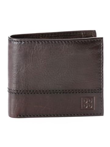 DuDu Geldbörse Leder 10,5 cm in dunkelbraun