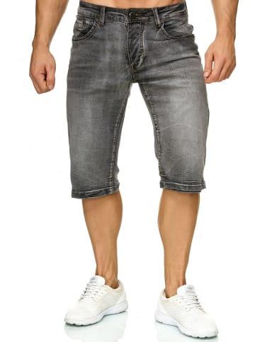 Giani5 Jeans Shorts Stretch Kurze Bermuda Hose H2271 in Grau
