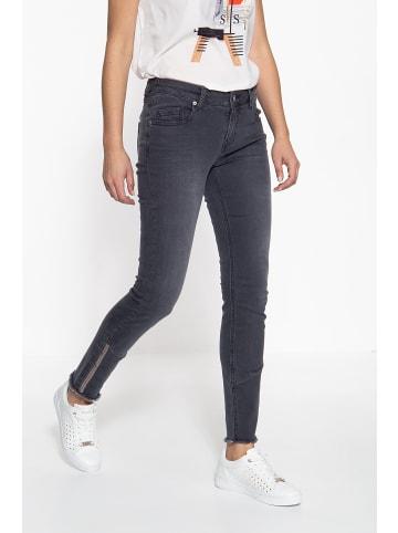 ATT Jeans ATT Jeans ATT JEANS Slim Fit Jeans mit offenen Saumkanten und Paillettendetails Leoni in grau