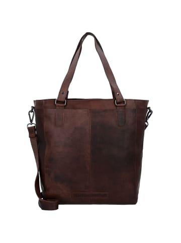 The Chesterfield Brand Wax Pull Up Jade Shopper Tasche Leder 35 cm in brown