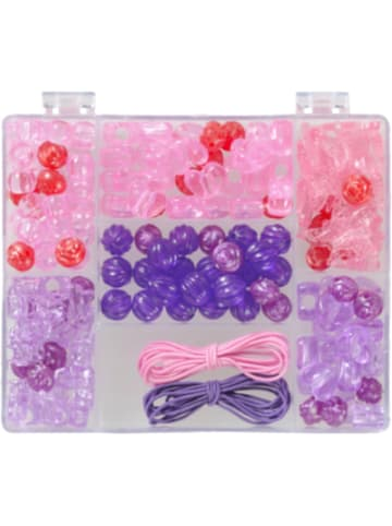 Prohobb Perlenbox Lila/Pink, inkl. Stretchgummi
